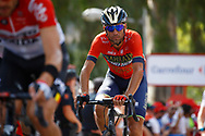 Vincenzo Nibali (ITA - Bahrain - Merida), during the UCI World Tour, Tour of Spain (Vuelta) 2018, Stage 8, Linares - Almaden 195,1 km in Spain, on September 1st, 2018 - Photo Luca Bettini / BettiniPhoto / ProSportsImages / DPPI