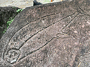 Petroglyphs, Omoa, Fatu Hiva, Marquesas, French Polynesia, South Pacific