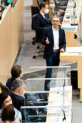 14.01.2021, Hofburg, Wien, AUT, Parlament, Sondersitzung des Nationalrates zu Corona-Gesetz, Kocher-Vorstellung und Bundesministeriengesetz, im Bild v. l. Sebastian Kurz (OeVP), Herbert Kickl (FPOe) // during a meeting of the National Council about Corona Act, Kocher presentation, and Federal Ministries Act at the Hofburg palace in Vienna, Austria on 2021/01/14, EXPA Pictures © 2021, PhotoCredit: EXPA/ Florian Schroetter