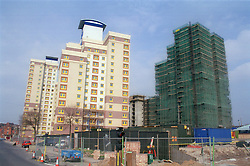 Radford Flats; Nottingham; formerly known as the 3B's; in process of renovation  left hand block shows the finished article,