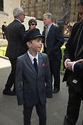 ANTONY VON HOFMANNSTHAL,, Service of thanksgiving for  Lord Snowdon, St. Margaret's Westminster. London. 7 April 2017