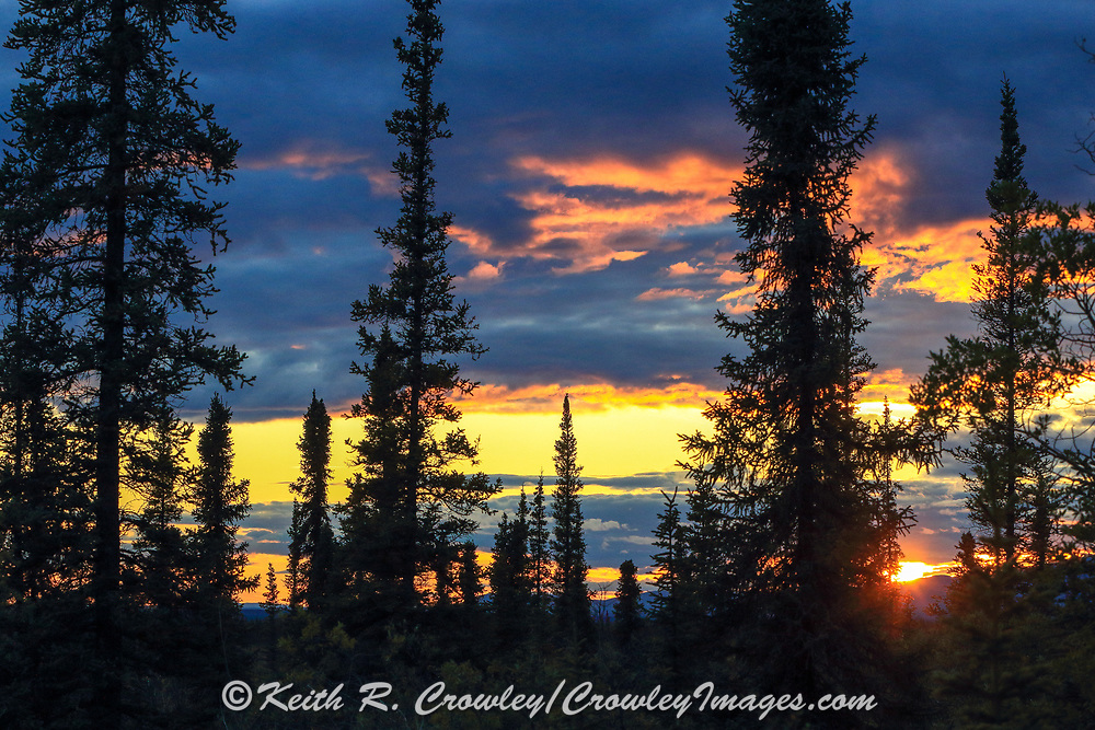 Beautiful sunset along the ALCAN Highway.