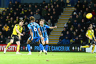 Burton Albion midfielder Scott Fraser (7) shoots and scores a goal 2-2 during the EFL Sky Bet League 1 match between Burton Albion and Gillingham at the Pirelli Stadium, Burton upon Trent, England on 12 January 2019.