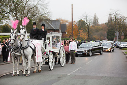 © Licensed to London News Pictures. 03/11/2015. Manchester, UK. The funeral of Kirsty Howard who was given just weeks to live at the age of four has taken place in Manchester today. Kirsty Howard was one of only two people in the world born with a back-to-front heart. She died on 24 October having spent years raising millions of pounds for Francis House children's hospice in Manchester. Photo credit: Andrew McCaren/LNP