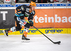 21.02.2021, Keine Sorgen Eisarena, Linz, AUT, EBEL, EHC Liwest Black Wings Linz vs iClinic Bratislava Capitals, 48. Qualifikationsrunde, im Bild Brian Lebler (Steinbach Black Wings 1992) // during the bet-at-home ICE Hockey League 48th qualifying round match between EHC Liwest Black Wings Linz and iClinic Bratislava Capitals at the Keine Sorgen Eisarena in Linz, Austria on 2021/02/21. EXPA Pictures © 2021, PhotoCredit: EXPA/ Reinhard Eisenbauer