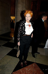 VIVIENNE WESTWOOD at the British Fashion Awards 2006 sponsored by Swarovski held at the V&A Museum, Cromwell Road, London SW7 on 2nd November 2006.<br /><br />NON EXCLUSIVE - WORLD RIGHTS