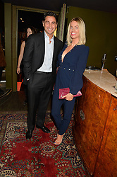 CAROLINE STANBURY and CEM HABIB at a party to celebrate the 1st anniversary of Hello! Fashion Monthly magazine held at Charlie, 15 Berkeley Street, London on 14th October 2015.