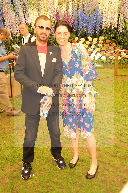 Th 2010 Royal Horticultural Society Chelsea Flower show in the grounds of Royal Hospital Chelsea, London on 24th May 2010.<br /> <br /> Picture shows:-RINGO STARR, MARY McCARTNEY