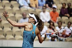 May 27, 2019 - Paris, France - Alizé Cornet during the match between Viktoria Kuzmova and Alizé Cornet at The Roland Garros 2019 French Open, in Paris, France, on May 27, 2019. (Credit Image: © Ibrahim Ezzat/NurPhoto via ZUMA Press)