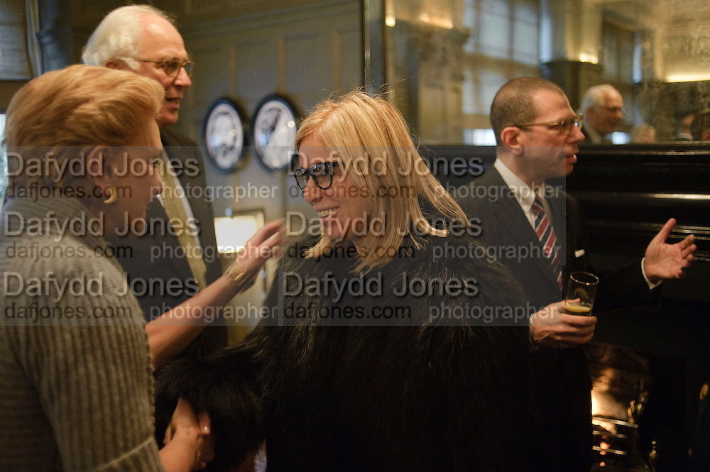 CAROLINA HERRERA;,SIR EVELYN DE ROTHSCHILD; RONNIE NEWHOUSE; JONATHAN NEWHOUSE,  Graydon and Anna Carter host a lunch for Carolina Herrera to celebrate the ipening of her new shop on Mount St. .The Connaught. London. 20 January 2010