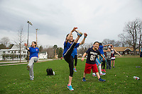 Elm Street School's Tiger Trek at Leavitt Park.  Karen Bobotas for the Laconia Daily Sun
