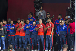 July 5, 2018 - The players welcome the Colombian soccer team in the city of Bogotà (Credit Image: © Daniel AndréS GarzóN Heraz via ZUMA Wire)