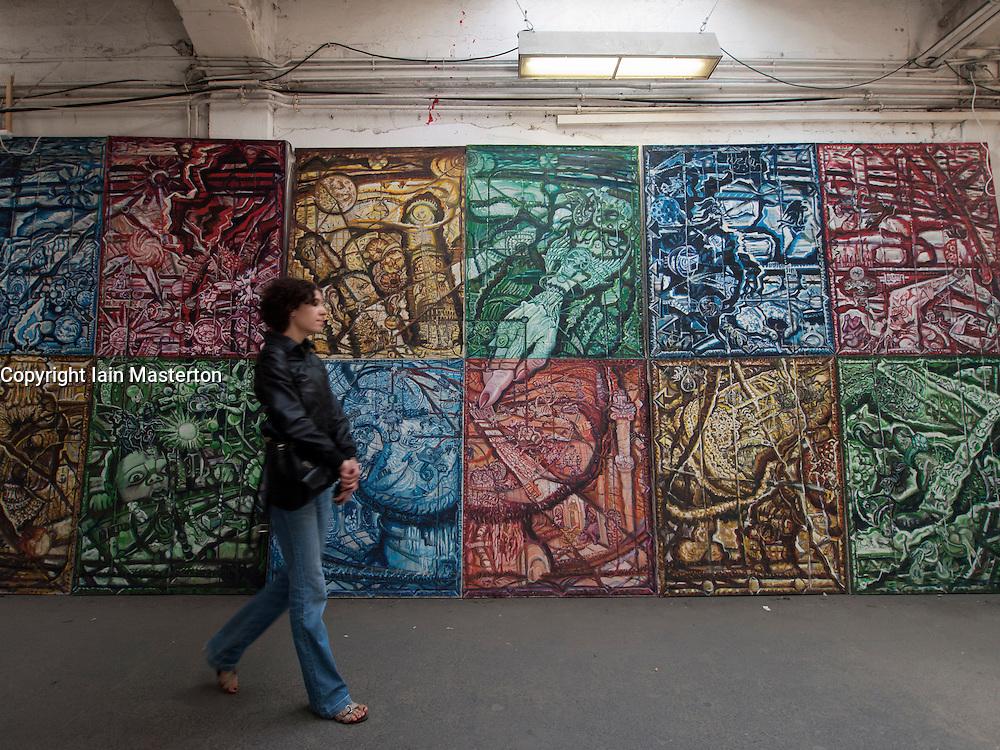 Art gallery in Tacheles Kunsthaus or Art Gallery alternative collective on Oranienburger strasse in Mitte Berlin Germany