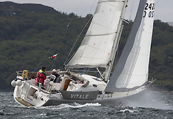 Day one of the Silvers Marine Scottish Series 2015, the largest sailing event in Scotland organised by the  Clyde Cruising Club<br /> Racing on Loch Fyne from 22rd-24th May 2015<br /> <br /> 2420C , Vitale , Wilkie/Reid , CCC/RWYC , Elan 344<br /> <br /> <br /> Credit : Marc Turner / CCC<br /> For further information contact<br /> Iain Hurrel<br /> Mobile : 07766 116451<br /> Email : info@marine.blast.com<br /> <br /> For a full list of Silvers Marine Scottish Series sponsors visit http://www.clyde.org/scottish-series/sponsors/
