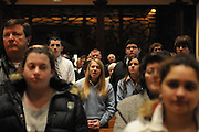 """Catholic high school students and staff from the dioceses of Chicago, Rockford and Joliet are gathered for a mass at Holy Name Cathedral to focus on promoting service leadership in the church under the theme """"A Call To Serve""""..\"""