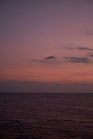 Pastel colored sky and clouds over the Pacific Ocean at dawn.  Image 2 of 21  for a panorama taken with a Fuji X-T1 camera and 35 mm f/1.4 lens  (ISO 400, 35 mm, f/2.8, 1/30 sec). Raw images processed with Capture One Pro and stitched together with AutoPano Giga Pro.