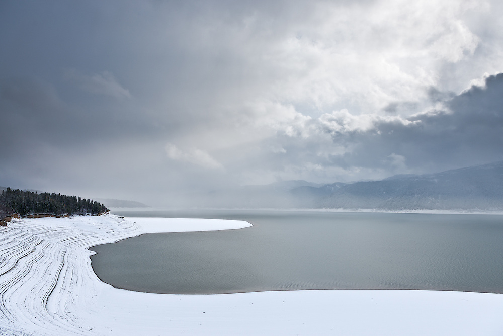 Limited Edition of 17<br /> Meditative stillness sits quietly upon Palisades Lake on the Idaho Wyoming border in early winter
