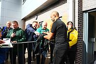 Wolverhampton Wanderers manager Nuno Espirito Santo with fans during the EFL Sky Bet Championship match between Burton Albion and Wolverhampton Wanderers at the Pirelli Stadium, Burton upon Trent, England on 30 September 2017. Photo by John Potts.