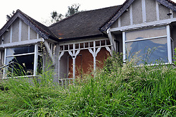 © Licensed to London News Pictures. 29/05/2017. <br /> Erith, UK. <br /> The home  of murdered Eastenders actress Sian Blake is still abandoned and boarded up with over grown gardens.<br />  Sian Blake and her two children were found in the back garden over two years ago in January 2016 with head and neck injuries.<br />   Photo credit: Grant Falvey/LNP