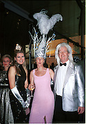 Georgina Macpherson, Lady Northbrook and Lord Northbrook. <br />Mr. and Mrs. Andy Wong Chinese Year of the Dragon. Millenium Dome. 29/1/2000.<br />© Copyright Photograph by Dafydd Jones<br />66 Stockwell Park Rd. London SW9 0DA<br />Tel 0171 733 0108. wwwdafjones.com