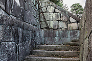 Stone steps & walls. Nijo Castle (Nijo-jo) was built in 1603 as the Kyoto residence of Tokugawa Ieyasu, the first shogun of the Edo Period (1603-1867). His grandson Iemitsu completed the castle's palace buildings 23 years later and further expanded the castle by adding a five-story castle keep. After the Tokugawa Shogunate fell in 1867, Nijo Castle was used as an imperial palace for a while before being donated to the city and opened to the public as a historic site. Its palace buildings are some of the best surviving examples of castle palace architecture of Japan's feudal era, and the castle was designated a UNESCO world heritage site in 1994.