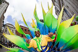 © Licensed to London News Pictures. 29/06/2012. London, England. City of London Festival, Flowers of the World procession with thousand children and young people. Festival artists worked with primary and secondary school pupils using tonnes of the City's recycleable waste. The parade took them from the Guildhall to St. Paul's Cathedral. Photo credit: Bettina Strenske/LNP