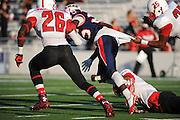 Houston Texans representatives participate in the Bellaire vs Lamar football game at Delmar Stadium, October 10, 2015.
