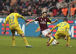 March 18, 2018 - Milan, Italy - Hakan Calhanoglu during Serie A match between Milan v Chievo Verona, in Milan, on March 18, 2018  (Credit Image: © Loris Roselli/NurPhoto via ZUMA Press)