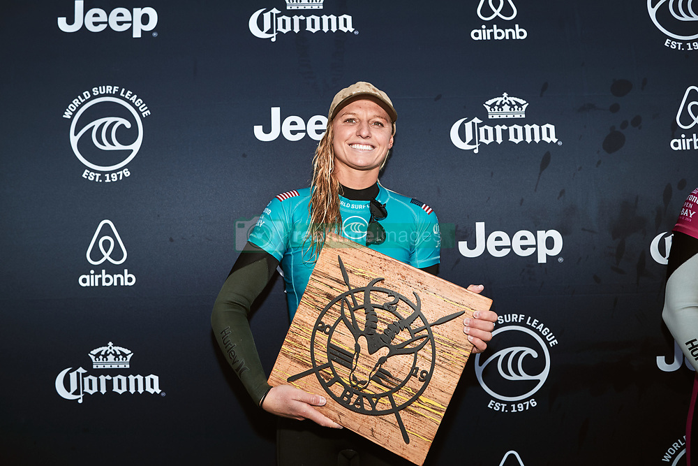 July 19, 2019, Jeffreys Bay, Eastern Cape, South Africa: LAKEY PETERSON of the United States finishes runner-up in the 2019 Corona Open J-Bay after placing second in the final at Supertubes on July 19, 2019 in Jeffreys Bay, South Africa. (Credit Image: © Ed Sloane/WSL via ZUMA Wire/ZUMAPRESS.com)