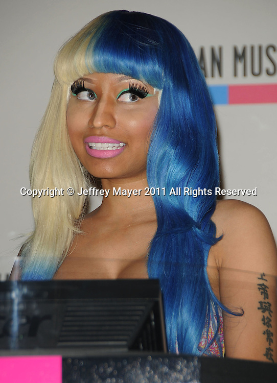 LOS ANGELES, CA - OCTOBER 10: Nicki Minaj  attends the 2011 American Music Awards Nominees Press Conference at JW Marriott Los Angeles at L.A. LIVE on October 11, 2011 in Los Angeles, California.
