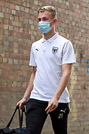 AFC Wimbledon goalkeeper Matt (Matthew) Cox (21) arriving for the game during the The FA Cup match between AFC Wimbledon and Crawley Town at Plough Lane, London, United Kingdom on 29 November 2020.
