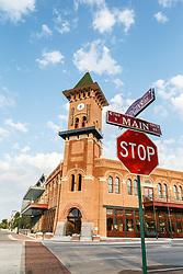 Convention and Visitors Bureau on Main Street, Grapevine, Texas USA