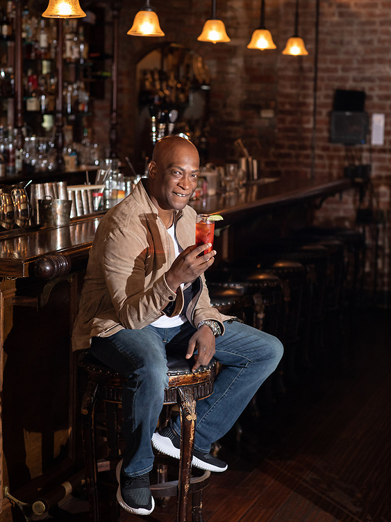 BROOKLYN, NY - JULY 23: Portraits of Jackie Summers, founder of Sorel Liqueur at Clover Club in Carroll Gardens, Brooklyn on July 26th, 2021.<br /> <br /> (Photo by Clay Williams for The Washington Post.)