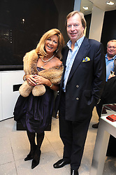 DAVID & EINA BOND at the MCM Christmas party held at their store at 5 Sloane Street, London on 26th November 2008.