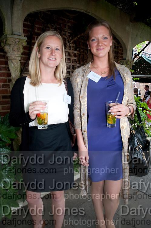 LIZZIE MORRISON; ALICE JONSDOTTIR FERRIER, Archant Summer party. Kensington Roof Gardens. London. 7 July 2010. -DO NOT ARCHIVE-© Copyright Photograph by Dafydd Jones. 248 Clapham Rd. London SW9 0PZ. Tel 0207 820 0771. www.dafjones.com.