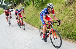 Gasper Katrasnik (SLO) of KK Adria Mobil, Gregor Gazvoda (SLO) of KK Adria Mobil during Stage 3 of 24th Tour of Slovenia 2017 / Tour de Slovenie from Celje to Rogla (167,7 km) cycling race on June 16, 2017 in Slovenia. Photo by Vid Ponikvar / Sportida