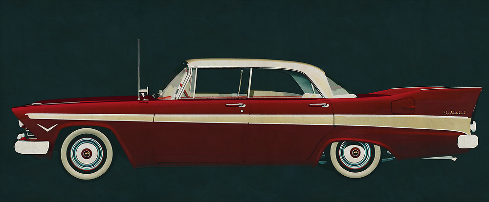 The 1957 Plymouth Belvedere Sport Sedan was a sporty family car with style; the end of the 1950s was the beginning of golden times and people were looking for prestige through the choice of their cars. The 1957 Plymouth Belvedere Sport Sedan has an unprecedented design and space to cruise through the American landscape.<br /> <br /> This painting of a Plymouth Belvedere Sport Sedan from 1957 can be printed very large on different materials. The work has a panoramic proportion and is very suitable to add a detail in a workspace, showroom or just at home that will impress your visitors. –<br /> <br /> BUY THIS PRINT AT<br /> <br /> FINE ART AMERICA<br /> ENGLISH<br /> https://janke.pixels.com/featured/the-plymouth-belvedere-sport-sedan-from-1957-was-the-car-for-the-jan-keteleer.html<br /> <br /> WADM / OH MY PRINTS<br /> DUTCH / FRENCH / GERMAN<br /> https://www.werkaandemuur.nl/nl/shopwerk/Plymouth-Belvedere-Sport-Sedan-1957/606137/132<br /> <br /> -