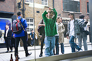 LUDO LERIS; HECTOR LERIS. Tracey Emin opening. White Cube. Mason's Yard. London. 28 May 2009.