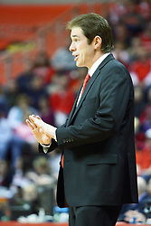 12 February 2011: Tim Jankovich during an NCAA Missouri Valley Conference basketball game between the Missouri State Bears and the Illinois State Redbirds at Redbird Arena in Normal Illinois.