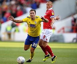 Birmingham City's Gary Gardner reacts to a challenge from Nottingham Forest's Ben Watson