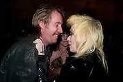 Rhys Ifans; Pam Hogg, Criterion Restaurant  celebrates its 135th anniversary. Piccadilly Circus. London. 2 February 2010