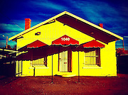 19 NOVEMBER 2011 - PHOENIX, AZ:  An abandoned business on Indian School Rd in Phoenix, AZ.  PHOTO BY JACK KURTZ