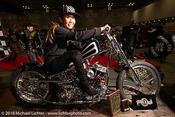 Luck Motorcycles Panhead at the Luck Motorcycles Panhead at the 27th Annual Mooneyes Yokohama Hot Rod Custom Show 2018. Yokohama, Japan. Sunday, December 2, 2018. Photography ©2018 Michael Lichter.