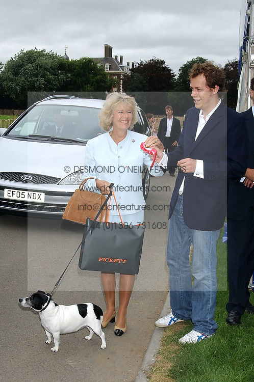 HRH The DUCHESS OF CORNWALL with her children TOM PARKER BOWLES and LAURA PARKER BOWLESat the 3rd annual Macmillan Dog Day in aid of Macmillan Cancer Relief held at Royal Hospital Chelsea, London SW3 on 5th July 2005.<br /><br />NON EXCLUSIVE - WORLD RIGHTS