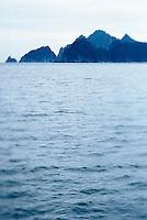 Water and rocky islands off southern side of Kenai Peninsula Alaska USA