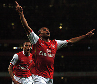 Photo: Tony Oudot.<br /> Arsenal v Manchester City. The Barclays Premiership. 17/04/2007.<br /> Julio Baptista celebrates his goal for Arsenal