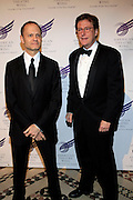"""David Hyde Pierce and Bryan Hargrove at The American Theater Wing's Annual Spring Gala Honoring Jerry Herman and Visa INC...The American Theatre Wing is best known as the creator of the Antoinette Perry """"Tony"""" Awards, which it presents annually with the Brodway League. The Wing's other activities, dedicated to recognizing excellence and supporting eductaion in theatre."""
