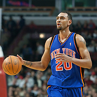17 December 2009: New York Knicks Jared Jeffries brings the ball upcourt during the Chicago Bulls 98-89 victory over the New York Knicks at the United Center, in Chicago, Illinois, USA.