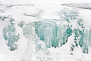 frozen waterfall in Laurrentians<br /> Mont Tremblant<br /> Quebec<br /> Canada