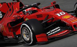 Ferrari's Charles LeClerc during day two of pre-season testing at the Circuit de Barcelona-Catalunya.
